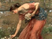 "Джон Уильям Уотерхаус (John William Waterhouse), ""Нарциссы"""