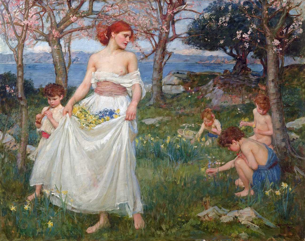 "Джон Уильям Уотерхаус (John William Waterhouse), ""Песня весны"""