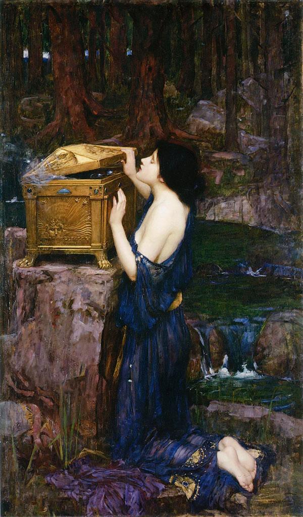 "Джон Уильям Уотерхаус (John William Waterhouse), ""Пандора"""