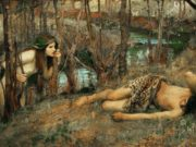 "Джон Уильям Уотерхаус (John William Waterhouse), ""Наяда"""