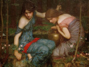 "Джон Уильям Уотерхаус (John William Waterhouse), ""Нимфы находят голову Орфея"""