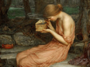 "Джон Уильям Уотерхаус (John William Waterhouse), ""Психея открывает золотую шкатулку"""
