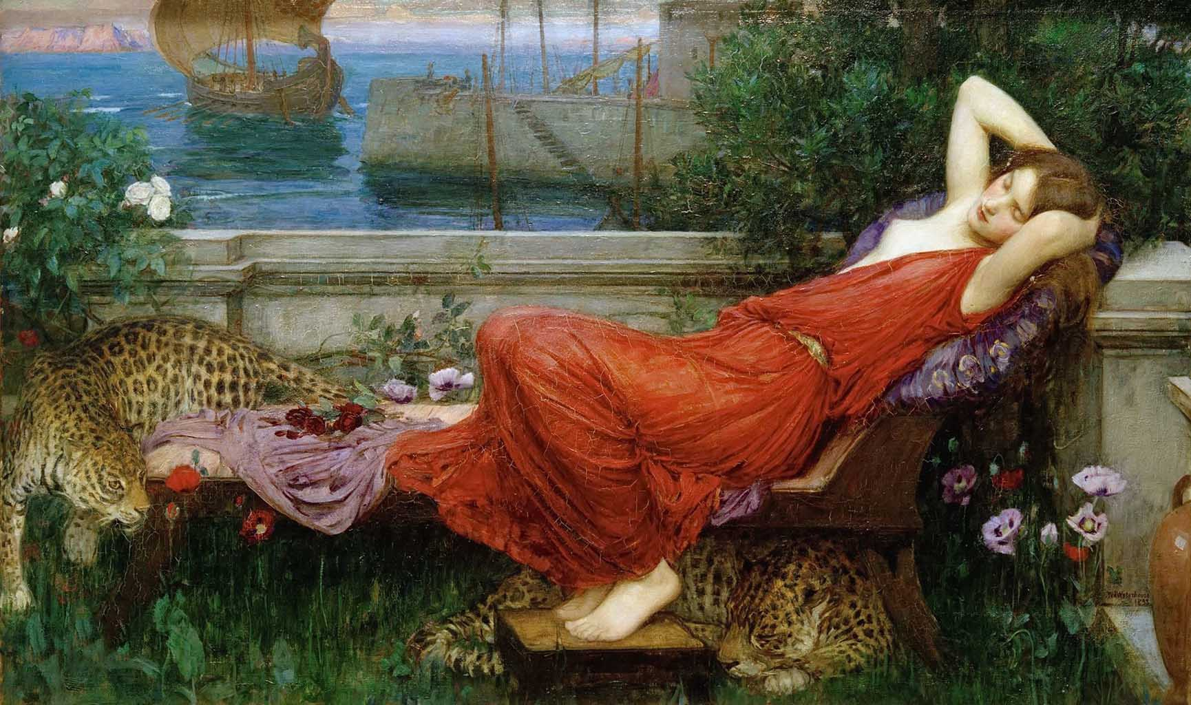 "Джон Уильям Уотерхаус (John William Waterhouse), ""Ариадна"""