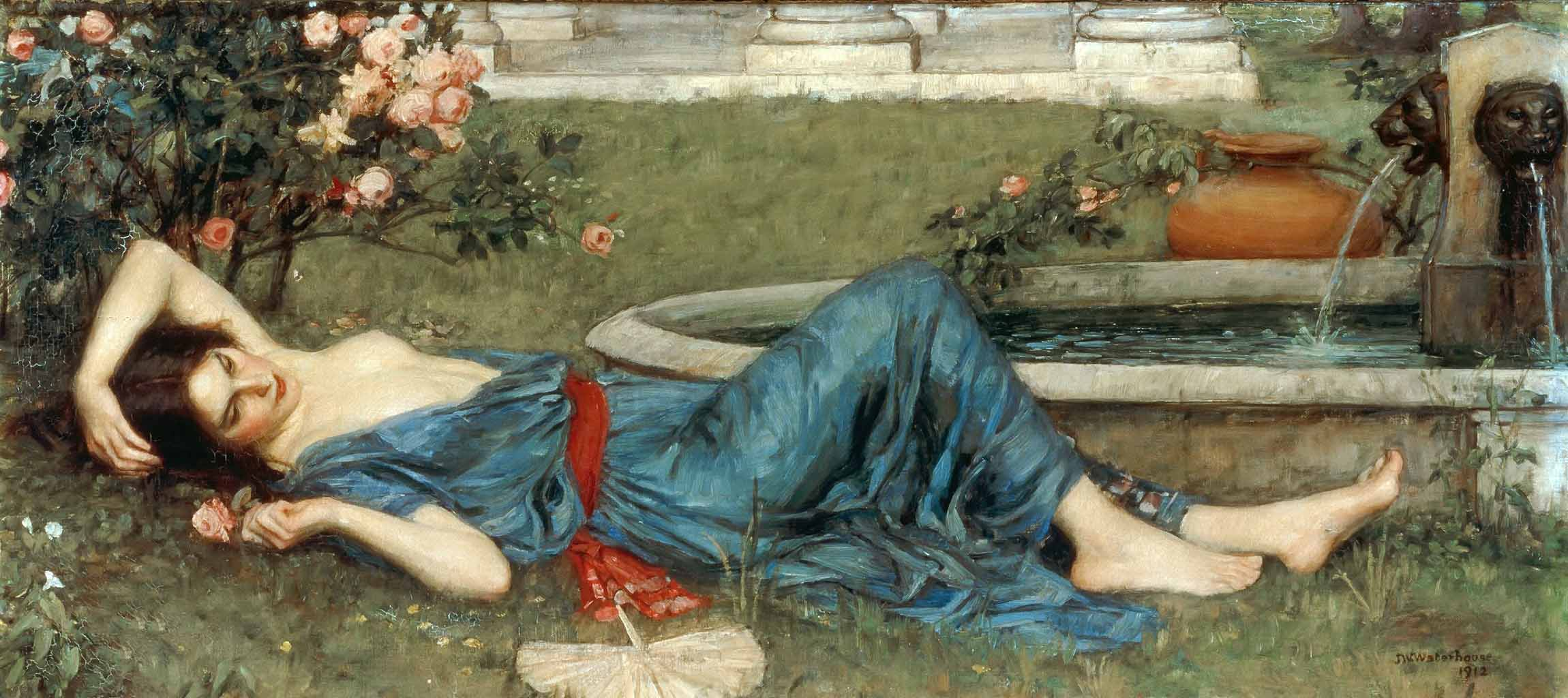 "Джон Уильям Уотерхаус (John William Waterhouse), ""Ласковое лето"""