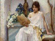 "Джон Уильям Уотерхаус (John William Waterhouse), ""Флора"""