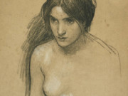 "Джон Уильям Уотерхаус (John William Waterhouse), ""Study for a Nymph in Hylas and the Nymphs"""