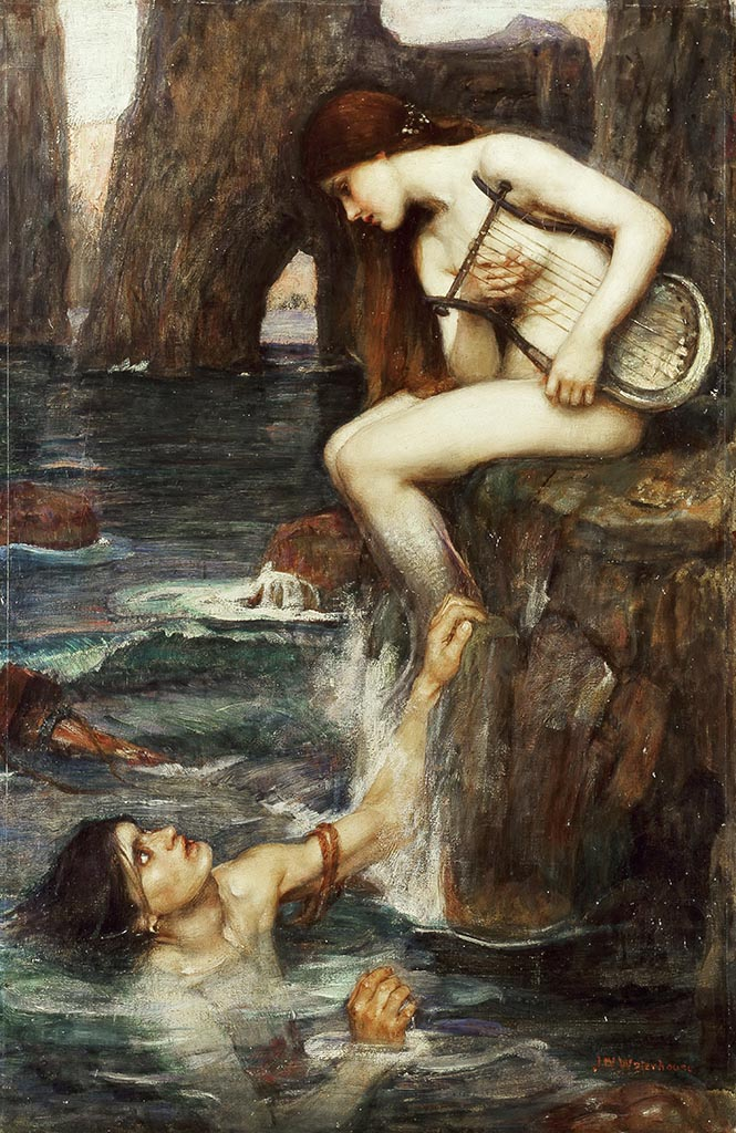 "Джон Уильям Уотерхаус (John William Waterhouse), ""Сирена"""