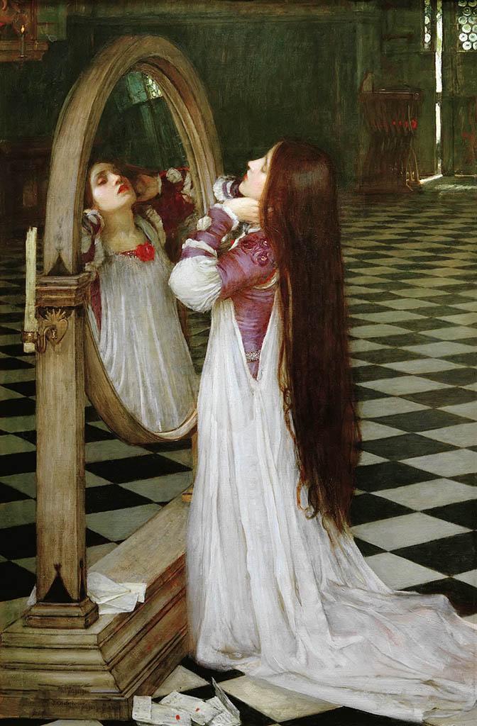 "Джон Уильям Уотерхаус (John William Waterhouse), ""Марианна перед зеркалом"""