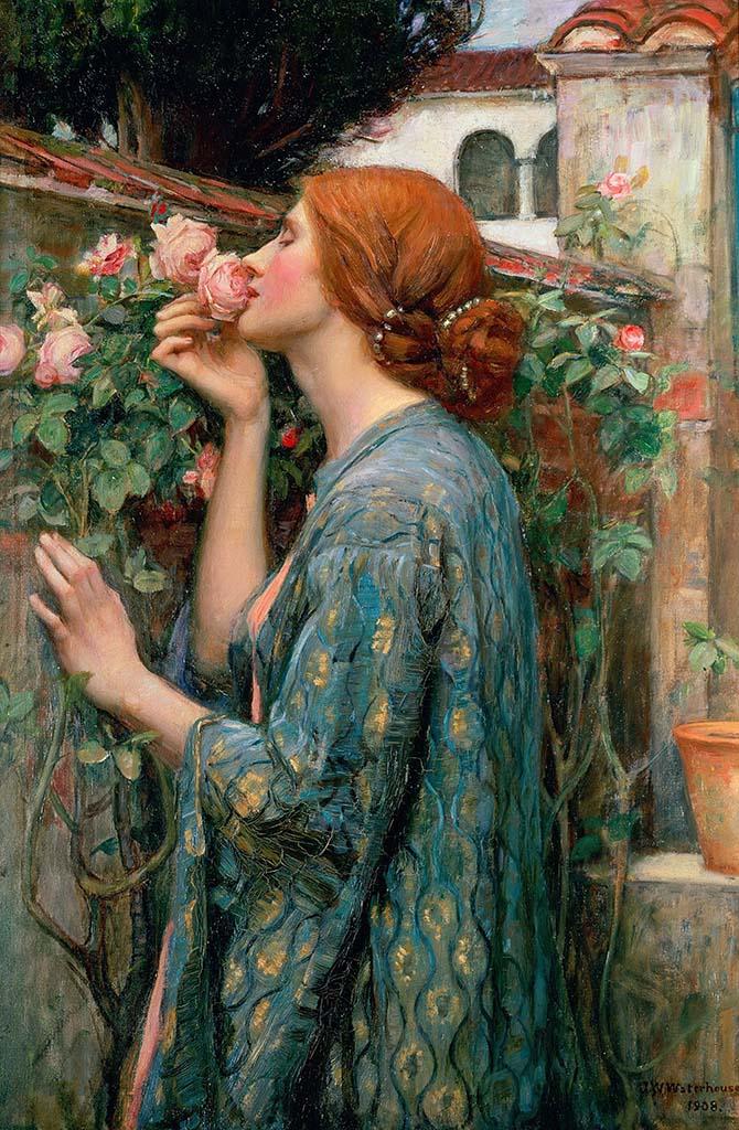 "Джон Уильям Уотерхаус (John William Waterhouse), ""Душа розы"""
