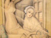 "Герда Вегенер (Gerda Wegener), ""Two Women in a Window"""