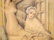"Герда Вегенер (Gerda Wegener), ""Two Women in a Window"""