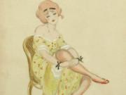 "Герда Вегенер (Gerda Wegener), ""Girl with red shoes"""