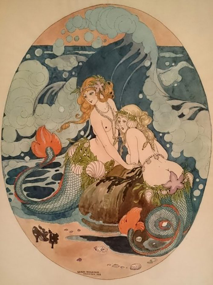 "Герда Вегенер (Gerda Wegener), ""Two sirens"""