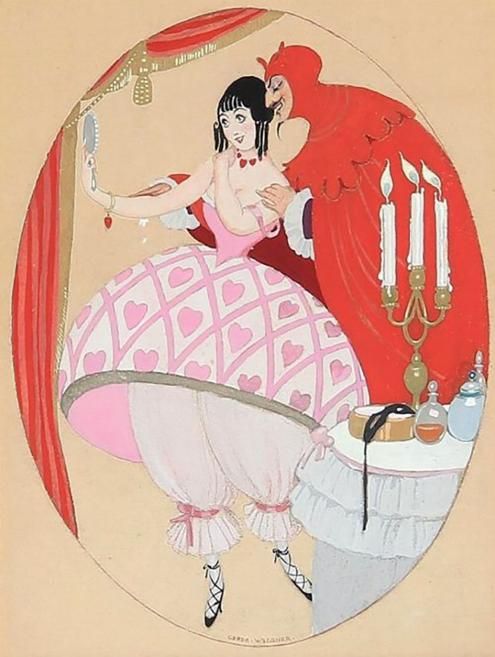 "Герда Вегенер (Gerda Wegener), ""The Devil and Vanity"""