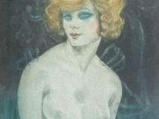 "Герда Вегенер (Gerda Wegener), ""Rise to hell Illustration"""