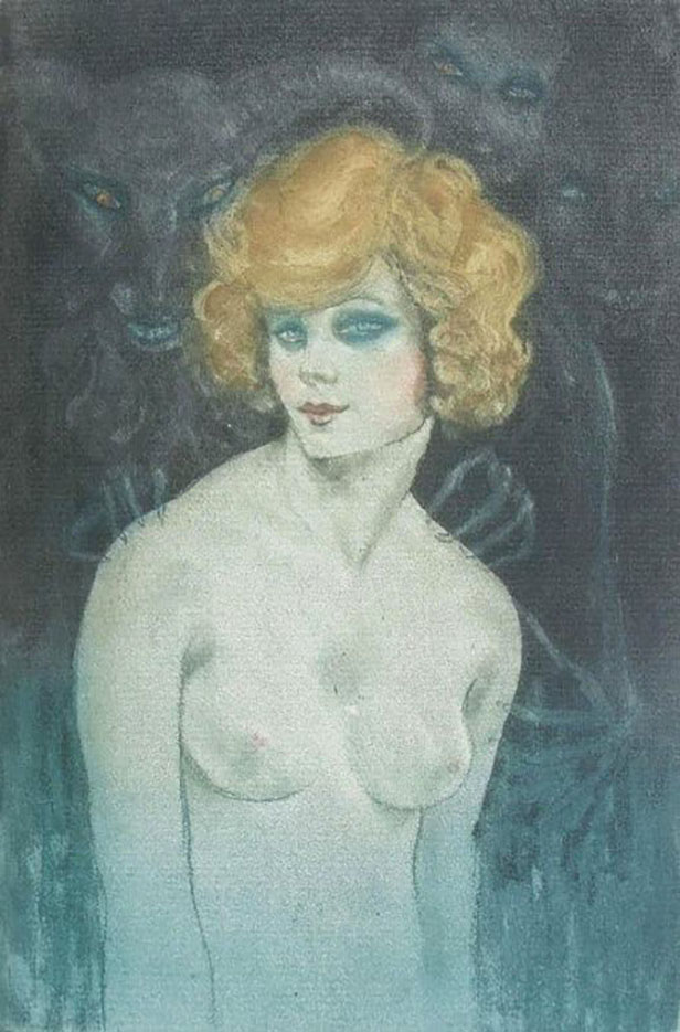 "Герда Вегенер (Gerda Wegener), ""Rise to hell Illustration"""