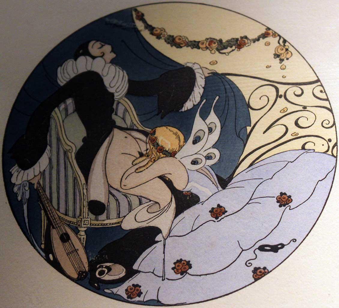 """Герда Вегенер (Gerda Wegener), """"Les Delassements d'Eros - 10"""""""