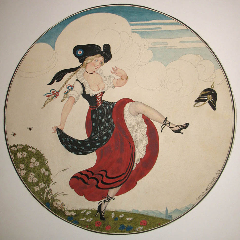 "Герда Вегенер (Gerda Wegener), ""Untitled - 32"""