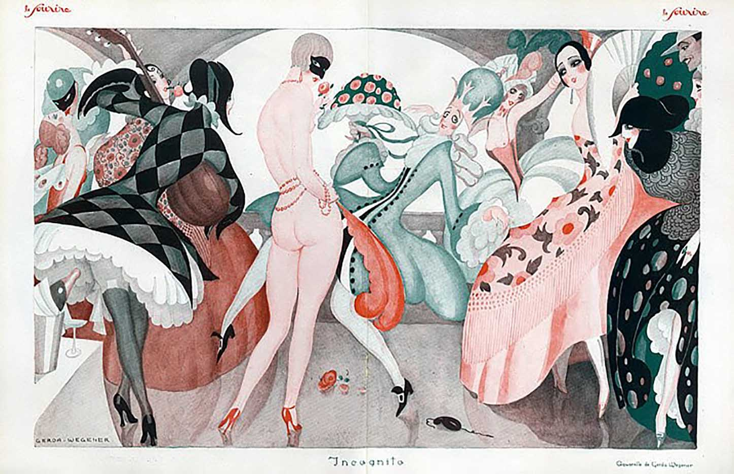 "Герда Вегенер (Gerda Wegener), ""Untitled - 38"""