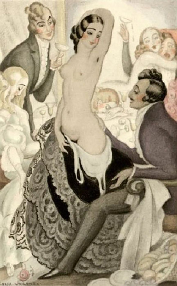 "Герда Вегенер (Gerda Wegener), ""Untitled - 43"""
