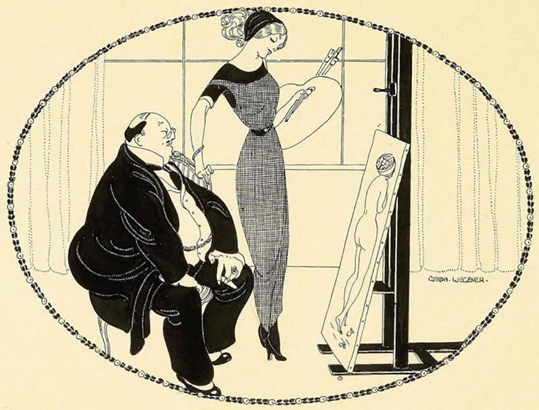 """Герда Вегенер (Gerda Wegener), """"Untitled - 45"""""""