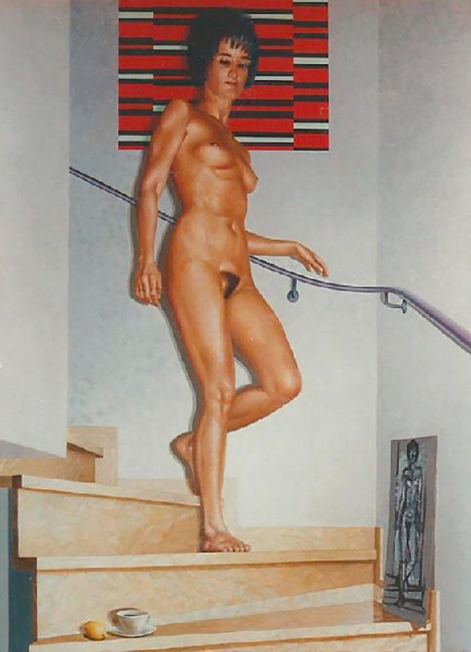 """Георг С. Вирнхартер (Georg C. Wirnharter) """"Julia, die Treppe hinabsteigend"""""""