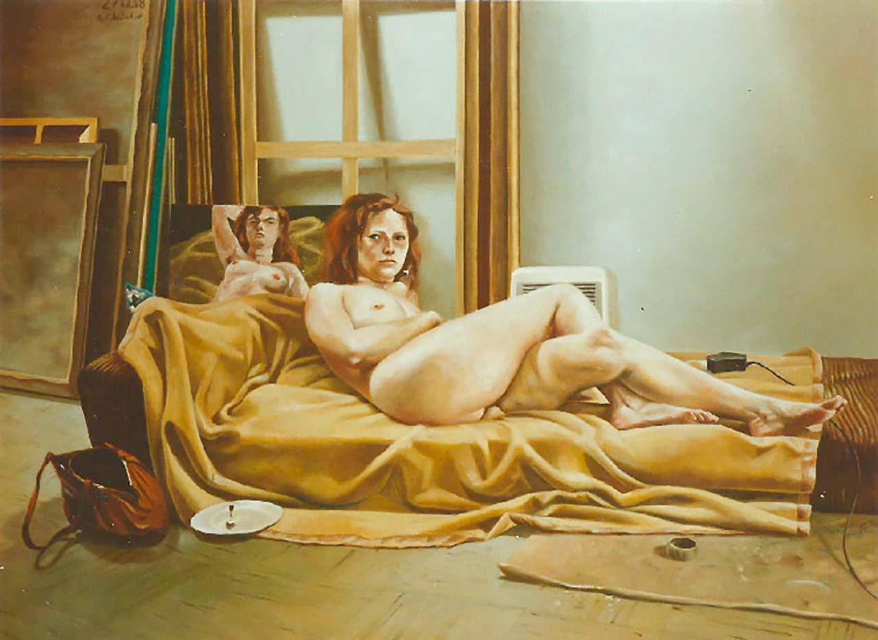 "Георг С. Вирнхартер (Georg C. Wirnharter) ""Marion im Atelier"""