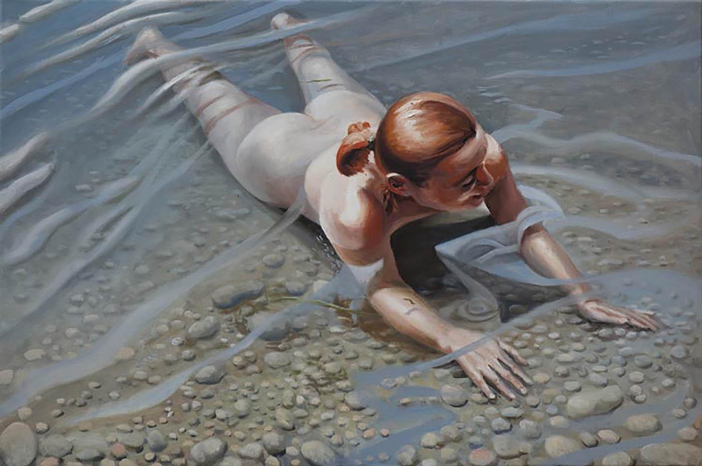 """Георг С. Вирнхартер (Georg C. Wirnharter) """"Cora liegt im Wasser"""""""