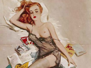 "Дэвид Райт (David Wright), ""Untitled Pin up — 53"""