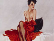 "Дэвид Райт (David Wright), ""Untitled Pin up — 79"""
