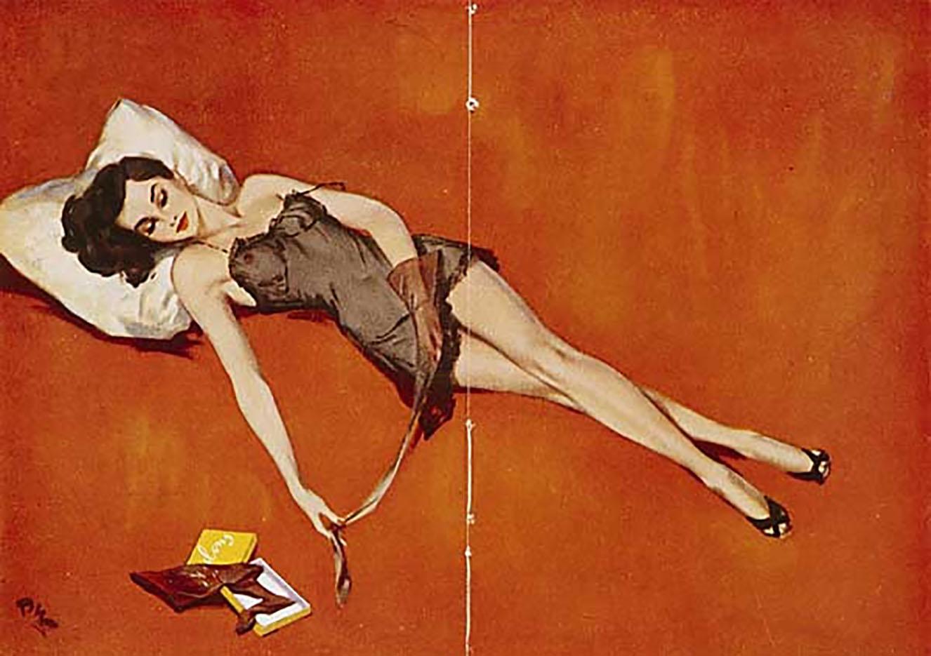 "Дэвид Райт (David Wright), ""Untitled Pin up — 83"""