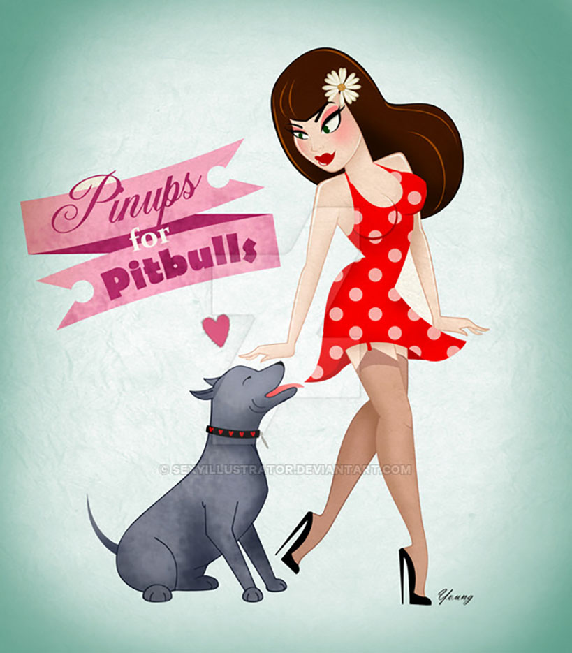"""Андреа Янг (Andrea Young), """"Pinups for Pittbulls 2"""""""