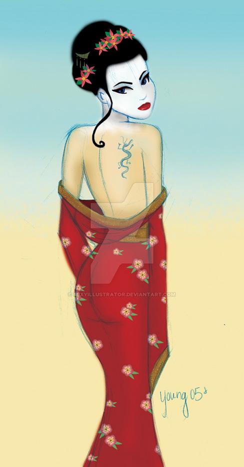 """Андреа Янг (Andrea Young), """"Geisha"""""""