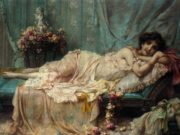 "Ханс Зацка (Hans Zatzka) ""Reclining Beauty"""