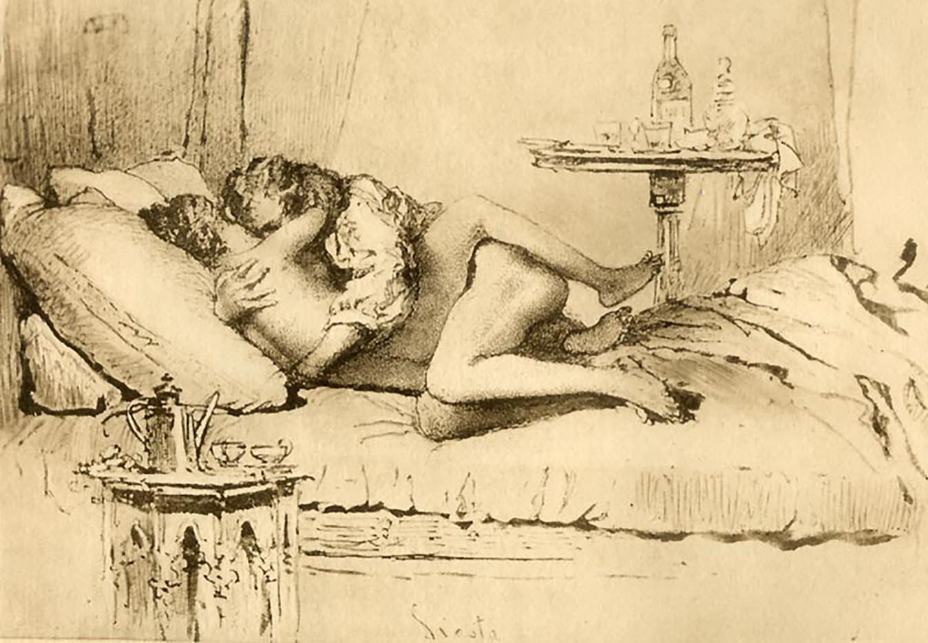 "Михай Зичи (Zichy, Mihaly) ""Erotic scene - 4"""