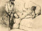 "Михай Зичи (Zichy, Mihaly) ""Erotic scene - 15"""