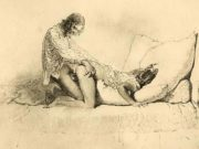 "Михай Зичи (Zichy, Mihaly) ""Erotic scene - 16"""