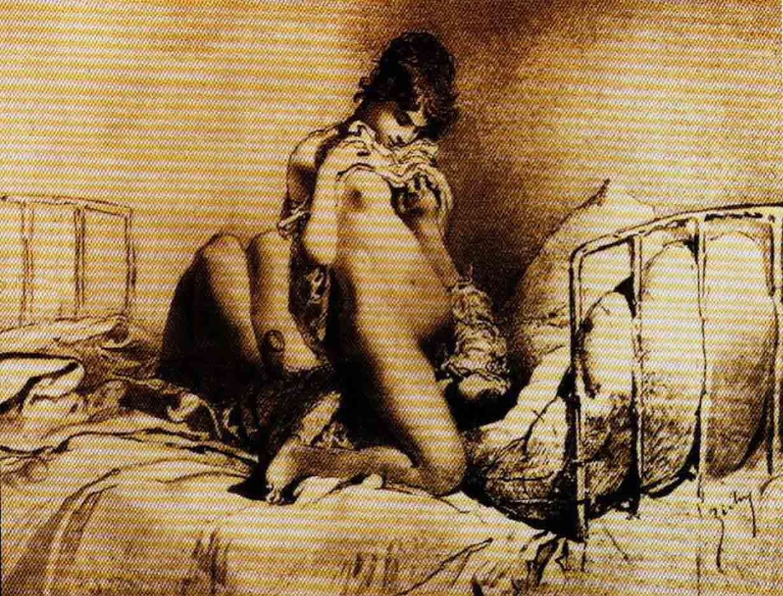 "Михай Зичи (Zichy, Mihaly) ""Erotic scene - 23"""