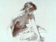 "Михай Зичи (Zichy, Mihaly) ""A Set of Ten Studies of Nudes - 7"""