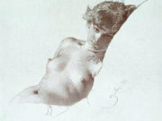 "Михай Зичи (Zichy, Mihaly) ""A Set of Ten Studies of Nudes - 8"""