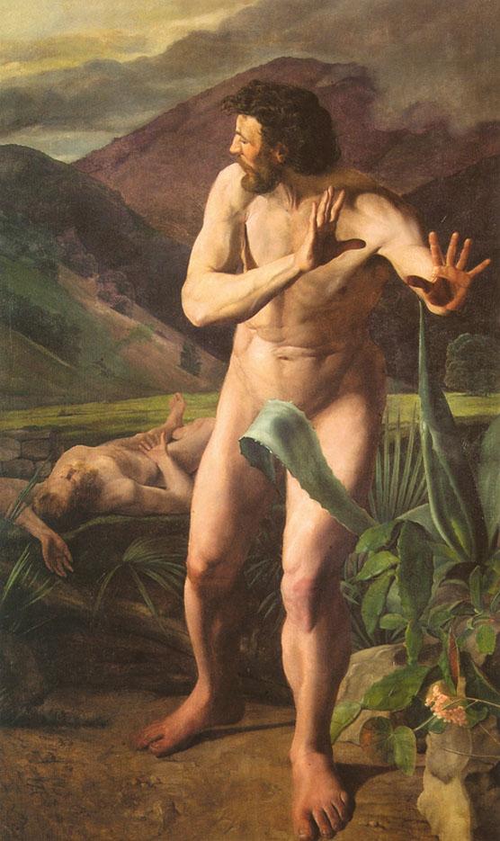 "Михай Зичи (Zichy, Mihaly) ""Cain kills Abel"""