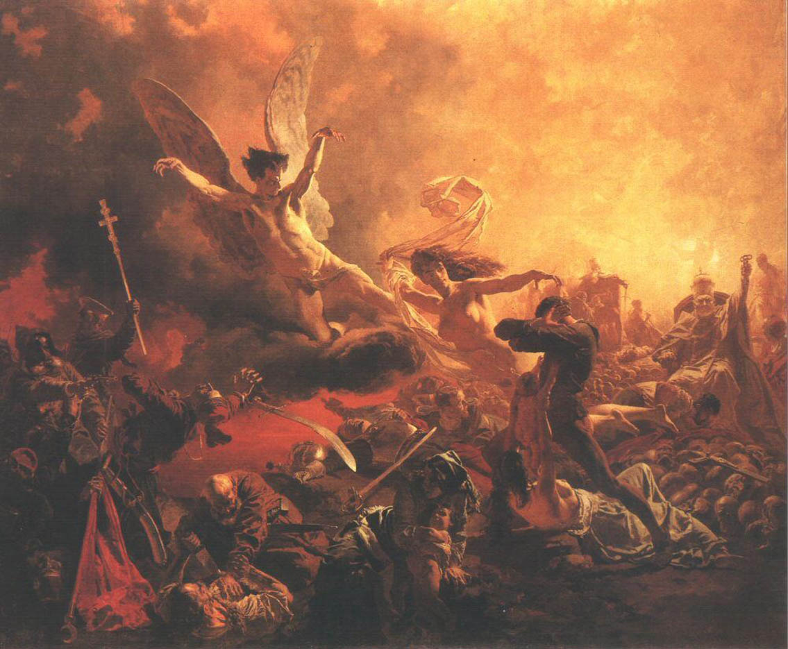 "Михай Зичи (Zichy, Mihaly) ""The Triumph of the Genius of Destruction"""