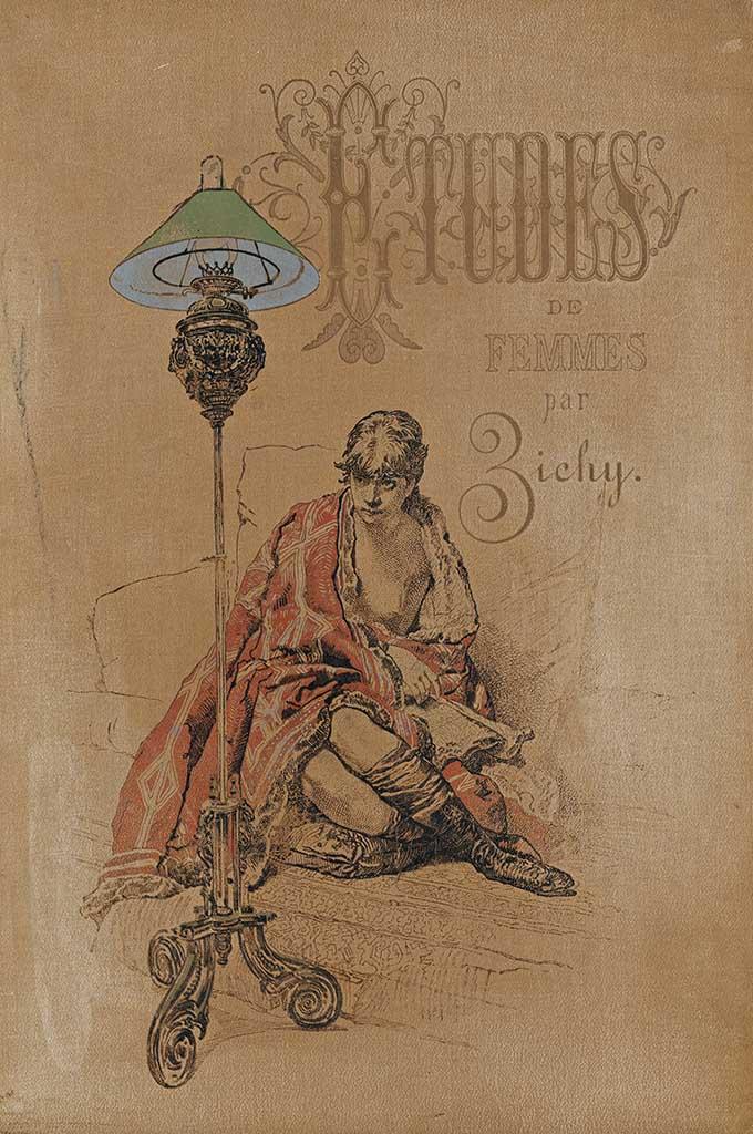 """Михай Зичи (Zichy, Mihaly) """"Cover of Etudes de Femmes par Zichy"""""""