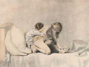 "Михай Зичи (Zichy, Mihaly) ""Set of five Erotic Lithographs - 3"""
