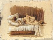 """Михай Зичи (Zichy, Mihaly) """"""""Souvenir de Jeunesse"""" Erotic Drawing - 6"""""""