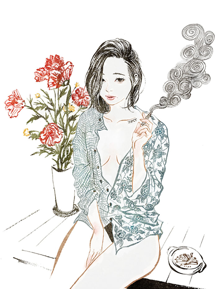 Zipcy, Ян Сэ Ын (Yang Se Eun), Morning smoking girl