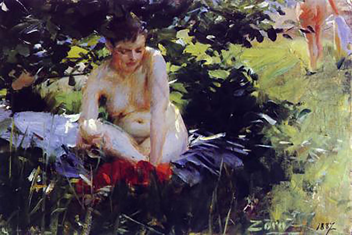 "Андерс Цорн (Anders Zorn), ""Red Stockings"""