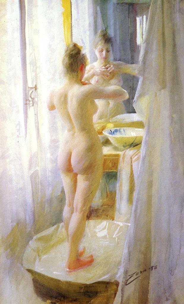 "Андерс Цорн (Anders Zorn), ""Ванная комната"""