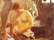"Андерс Цорн (Anders Zorn), ""In Wikstrom Studio"""