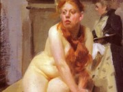"Андерс Цорн (Anders Zorn), ""In the studio"""